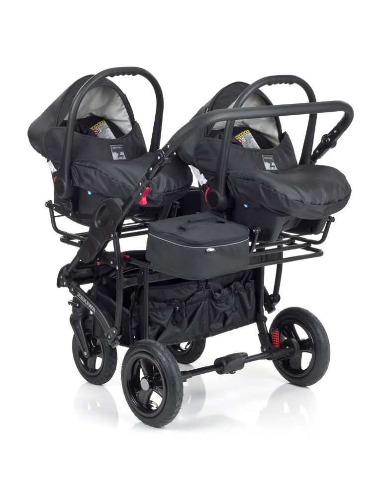 Zwillingskinderwagen mit babyschale  Zwillingswagen 'Sport Duo' von Zekiwa - Twinstore24
