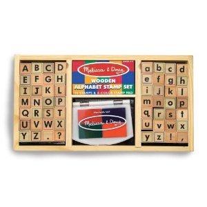 Deluxe Alphabet Stamp Set By Melissa Doug